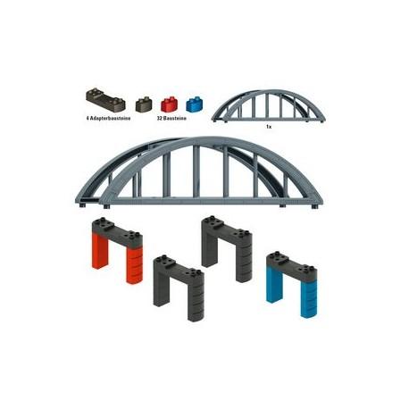 Set bouwstenen viaductspoorwegbrug
